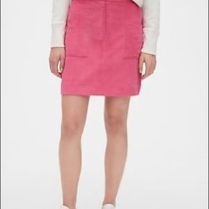 Gap Hot Pink Chino Mini Draw String Skirt
